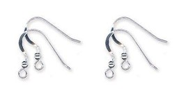 100 Solid Sterling SILVER 925 Ear Wires FRENCH HOOKS w/ Ball Bead  Coil ... - $44.54