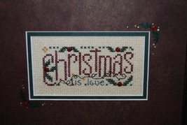 Christmas Is Love christmas winter holiday cross stitch kit Shepherd's Bush - $14.00