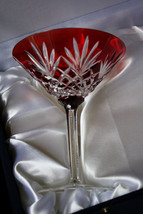 Faberge Odessa Red Martini Glass without the box - $225.00