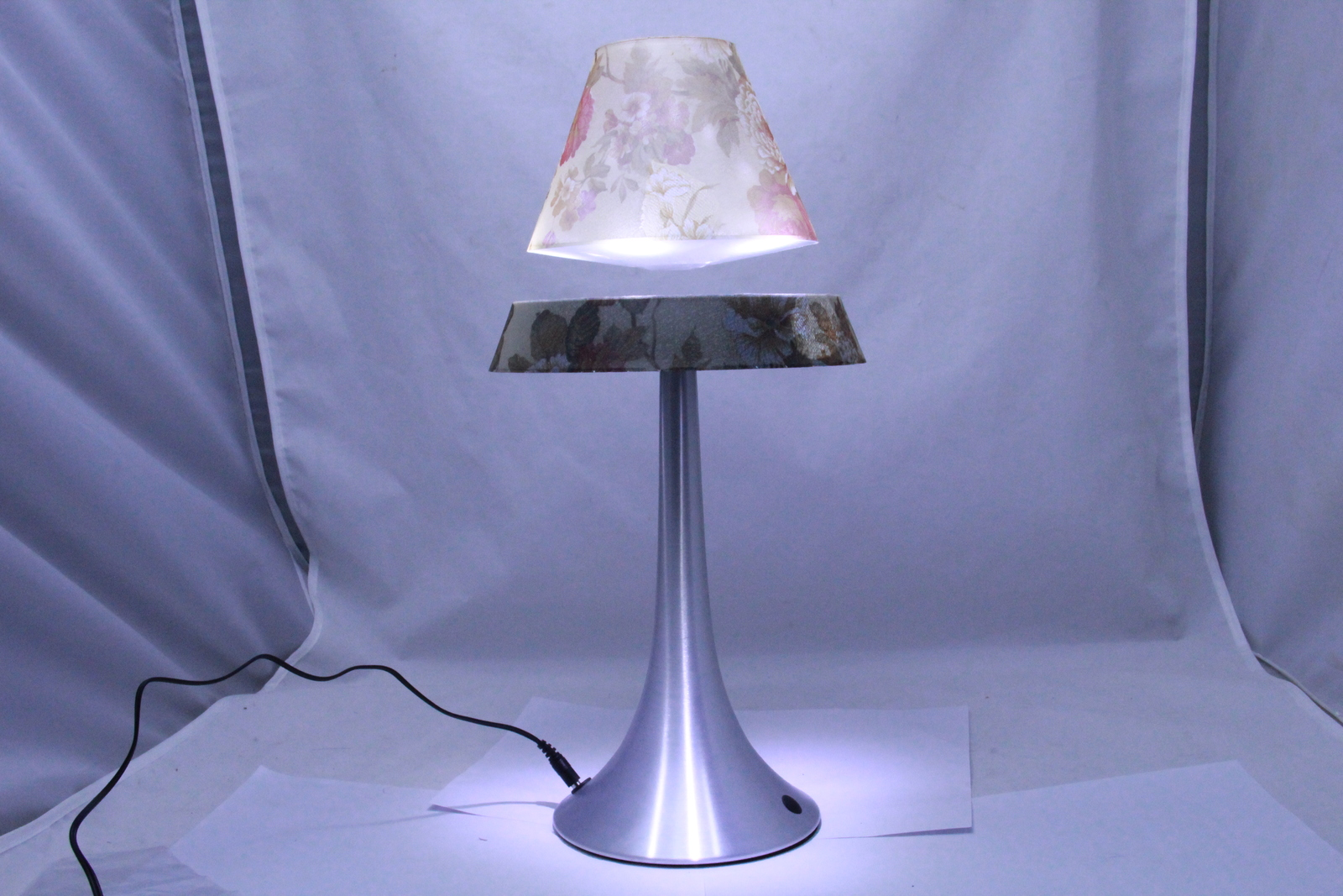 The Amazing Floating/Levitating Lamp - Floral Pattern Base and Shade -- Get One