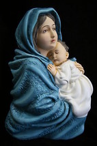Madonna of the Street with Jesus Virgin Mary Plate Italian Catholic Statue Italy - $89.95