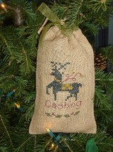 Dashing reindeer winter holiday cross stitch kit Shepherd's Bush - $12.00