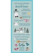 Snowman Wisdom cross stitch chart Sue Hillis Design - $10.80