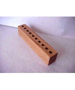 Office  Wood Desk Organizer Pen Pencil Holder  HAnd crafted  - $35.99