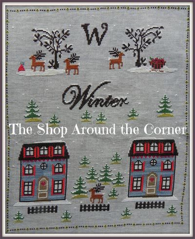 Primary image for Winter cross stitch chart The Shop Around The Corner