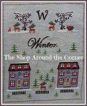Winter cross stitch chart The Shop Around The Corner - $12.60