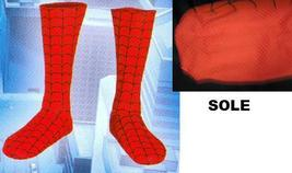ADULT SPIDERMAN NEW RED BOOT COVERS WITH BLACK WEB LINES - $18.00