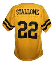 Sylvester Stallone #22 Lincoln High School Men Football Jersey Yellow Any Size image 5