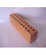 Office  Wood Desk Organizer Pen Pencil Holder  hand crafted - $44.99