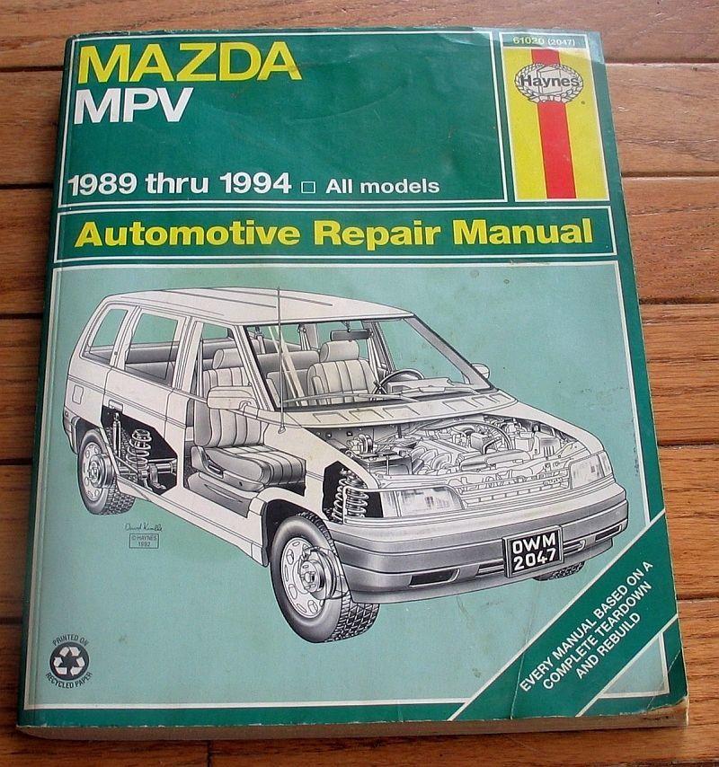 Mazda Mpv 1989 1994 All Models Haynes Manual And 50 Similar Items