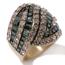 Heidi Daus Sparkling Obsession Light Rose Ring sz 6 - $62.50