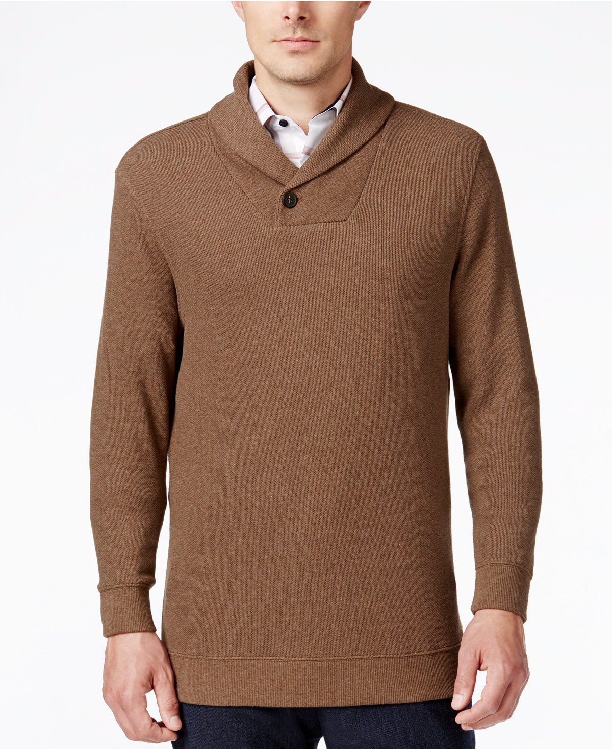 NWT $75 Tasso Elba Men's Large Shawl-Collar Sweater