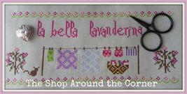 La Bella Lavenderina cross stitch chart The Shop Around The Corner - $12.60