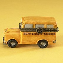 "Boyds Treasure Box ""Buddys School Bus w/Booker McNibble"" #4015205- NIB-2009 - $49.99"