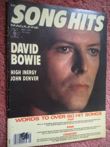Primary image for Song Hits Magazine May 1978 David Bowie (Song Hits Magazine, 42-147) [Paperba...
