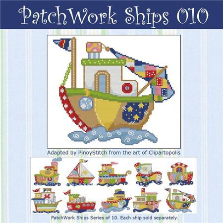 Primary image for Patchwork Ships 010 boy cross stitch chart Pinoy Stitch