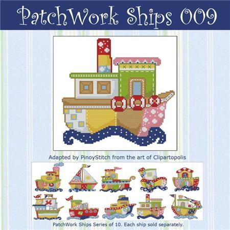 Primary image for Patchwork Ships 009 boy cross stitch chart Pinoy Stitch