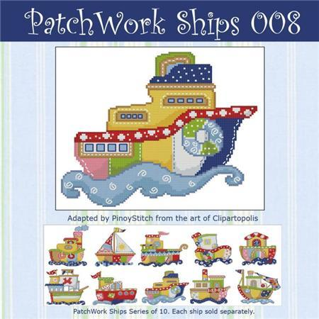 Primary image for Patchwork Ships 008 boy cross stitch chart Pinoy Stitch
