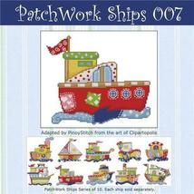 Patchwork Ships 007 boy cross stitch chart Pinoy Stitch - $4.50
