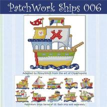 Patchwork Ships 006 boy cross stitch chart Pinoy Stitch - $4.50