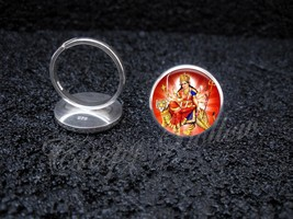 925 Sterling Silver Adjustable Ring Hindu Goddess Durga Devi Shakti - $34.65