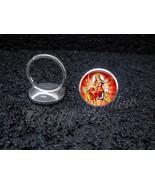 925 Sterling Silver Adjustable Ring Hindu Goddess Durga Devi Shakti - $34.65