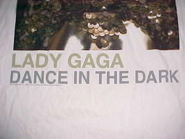 Lady Gaga Dance In The Dark The Monster Ball Tour Concert White T-Shirt XL image 2