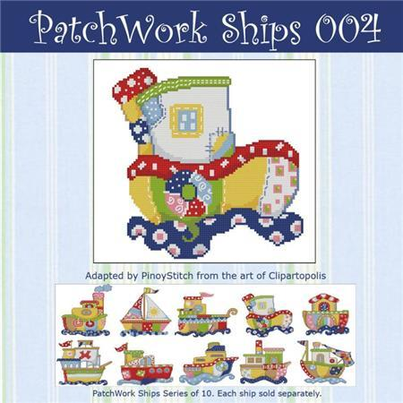 Primary image for Patchwork Ships 004 boy cross stitch chart Pinoy Stitch