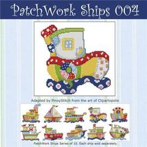 Patchwork Ships 004 boy cross stitch chart Pino... - $4.50