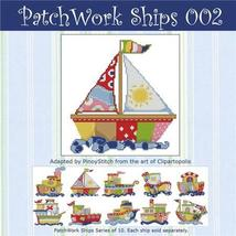 Patchwork Ships 002 boy cross stitch chart Pinoy Stitch - $4.50