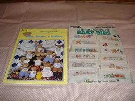 Cross Stitch Baby Bibs 2 Pattern Books  - $11.99