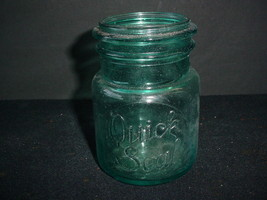 Quick Seal Blue Glass Pint Canning Jar Vintage - $9.85