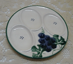 Vintage Round Purple Grapes With Vine Spoon Rest // Three Spoon Rest - $11.50