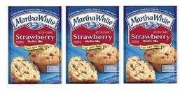 Martha White Strawberry Muffin Mix 3 Bag Pack - $14.80