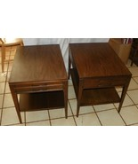Pair of Walnut Formica Top Mersman Side Tables ... - $499.00