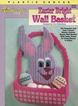 Easter Bright Wall Basket, Plastic Canvas Decoration Pattern Leaflet TNS... - $4.95