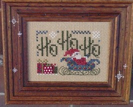 Ho Ho Ho santa christmas winter holiday cross stitch kit Shepherd's Bush - $12.00