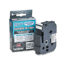 "Brother P-Touch TZ Flexible Tape for Labelers 1""x 26.2ft Black on White,... - $59.66"