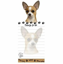CHIHUAHUA TAN DOG DIECUT LIST PAD NOTES NOTEPAD Magnetic Magnet Refriger... - $7.99
