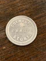 RARE DOLMAN'S CANDY STORE BELLEVILLE ILLINOIS 5¢ TRADE TOKEN ST CLAIR CO... - $2.99