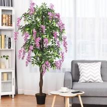 6-Feet Artificial Wistera Silk Indoor-Outdoor Tree - $147.57