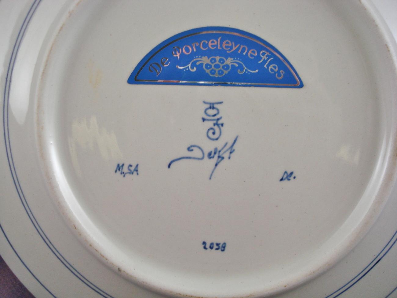 De Porceleyne Fles Delftware plate #2058