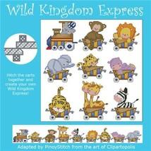 Wild Kingdom Express cross stitch chart Pinoy Stitch - $13.50
