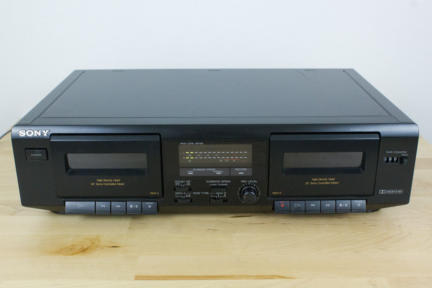 Sony Dual Cassette Deck TC-WE471 Tape Recorder Player PARTS OR REPAIR