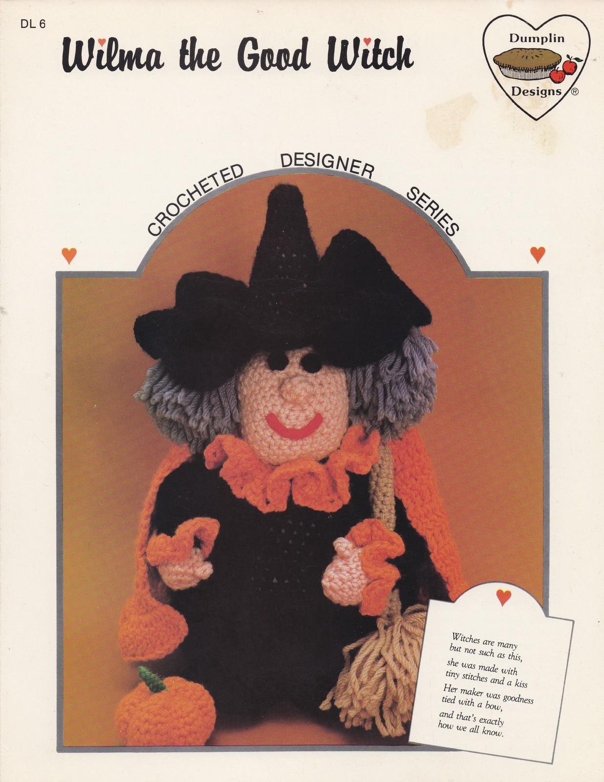 Wilma the Good Witch, Dumplin Designs Halloween Doll Crochet Pattern Book DL 6