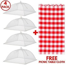 Food Tent Covers With FREE Picnic Table Cloth – Premium 4 Pack Wind Proo... - $37.93