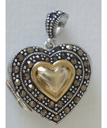 Sterling Silver and Marcasite Heart Locket - $68.00