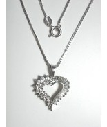 "CZ Enhanced Sterling Silver Heart Pendant w/ 18"" 0.8 mm Sterling Silver ... - $56.00"