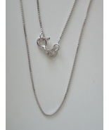 Sterling Silver Box Chain 18''- 0.8mm - $15.00