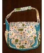 JANSPORT Turquoise Floral College Full Size Messenger Shoulder Laptop ba... - €23,07 EUR
